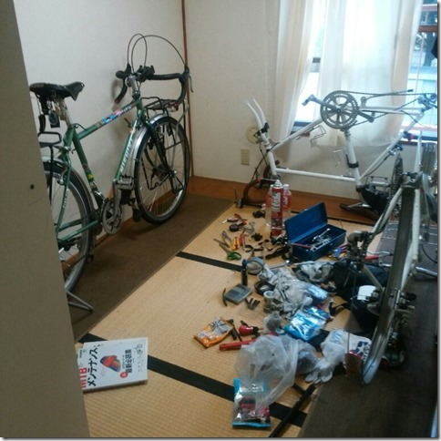 自転車日本一周用自転車の整備
