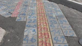 【日常】数字2 路上に描かれたもの